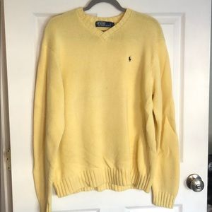 Calvin Klein yellow cotton knitted sweater